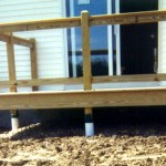 new deck construction footings