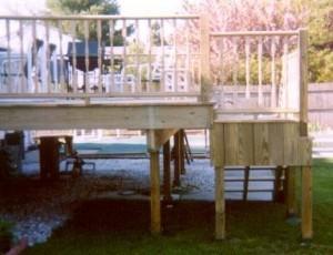 pool deck footing