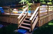 Pool deck footings